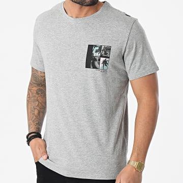 Blend - Tee Shirt 20712078 Gris Chiné