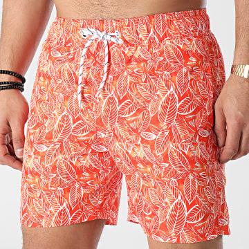 Blend - Short De Bain Floral 20712263 Orange Blanc