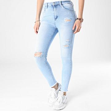 Girls Outfit - Jean Skinny Femme E002 Bleu Denim