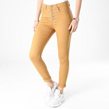 Girls Outfit - Jean Skinny Femme DZ359 Camel