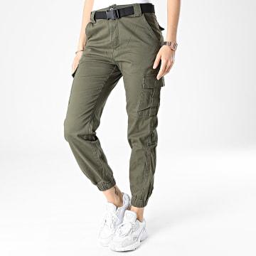 Girls Outfit - Jogger Pant Femme C9061 Vert Kaki