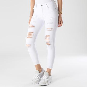 Girls Only - Jean Skinny Femme B812 Blanc