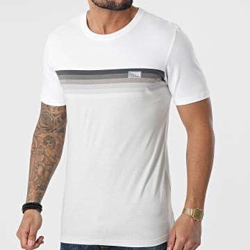 Jack And Jones - Tee Shirt Mirku Blanc Gris