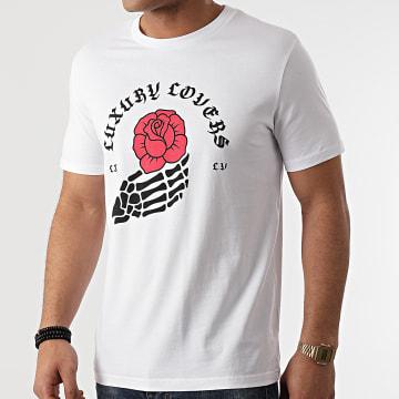 Luxury Lovers - Tee Shirt Rose Bones Blanc