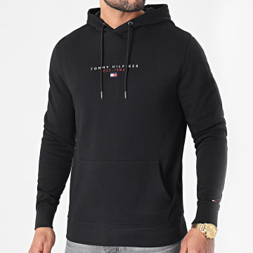 Tommy Hilfiger - Sweat Capuche Essential Tommy 7382 Noir
