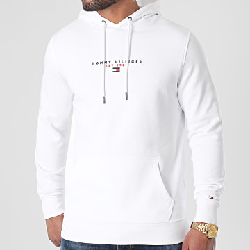 Tommy Hilfiger - Sweat Capuche Essential Tommy 7382 Blanc