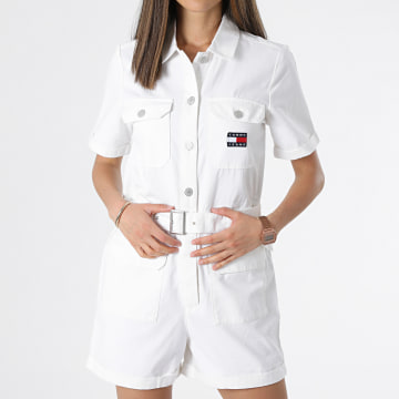 Tommy Jeans - Combinaison Short Boilersuit 9837 Ecru