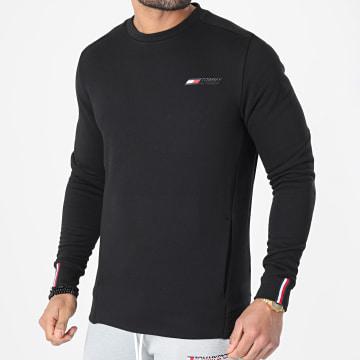 Tommy Sport - Sweat Crewneck Logo Fleece 7237 Noir