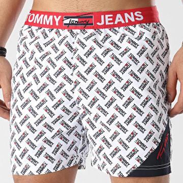 Tommy Jeans - Short De Bain Medium Drawstring Print 2097 Blanc