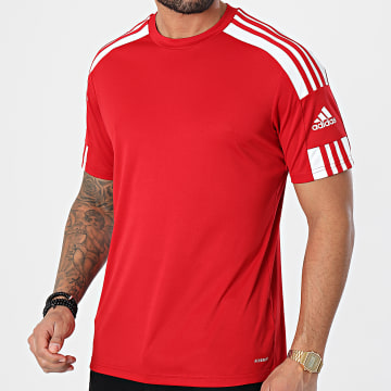 Adidas Performance - Tee Shirt A Bandes Squad 21 GN5722 Rouge