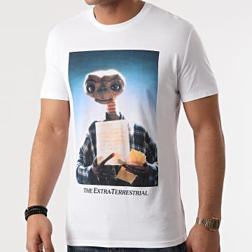 E.T. L'Extraterrestre - Tee Shirt Letter Blanc