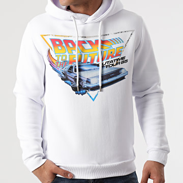 Back To The Future - Sweat Capuche Out A Time Tour 85 Blanc