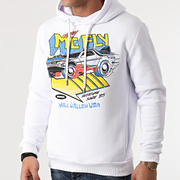 Back To The Future - Sweat Capuche McFly Blanc