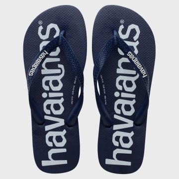 Havaianas - Tongs Top Logo Mania Bleu Marine