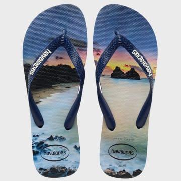 Havaianas - Tongs Hype Bleu Marine Sunset