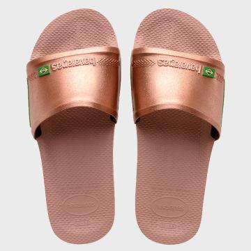Havaianas - Claquettes Femme Slide Brasil Rose