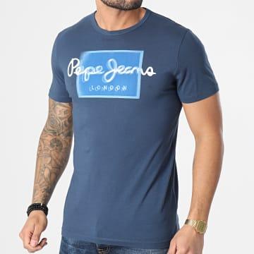 Pepe Jeans - Tee Shirt Dimitri PM507745 Bleu Marine