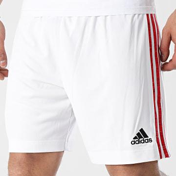 Adidas Performance - Short De Sport A Bandes Manchester United FM4289 Blanc