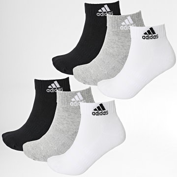 Adidas Performance - Lot De 6 Paires De Chaussettes DZ9361 Noir Blanc Gris Chiné