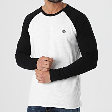 Element - Tee Shirt Manches Longues Blunt Blanc Noir Chiné