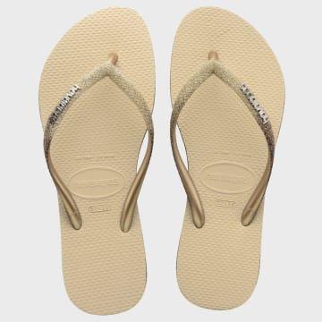 Havaianas - Tongs Femme Slim Sparkle Beige