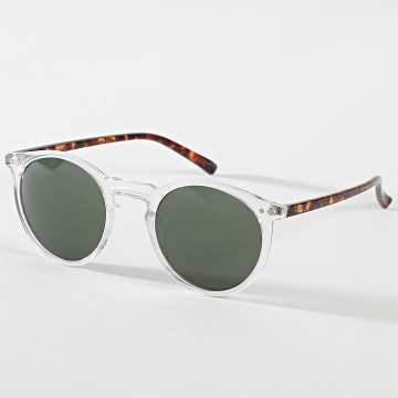 Jack And Jones - Lunettes De Soleil Parker Transparent Blanc Marron