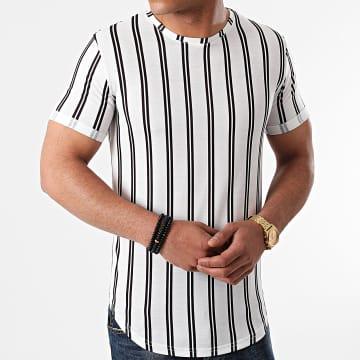 LBO - Tee Shirt Oversize A Rayures 1248 Blanc