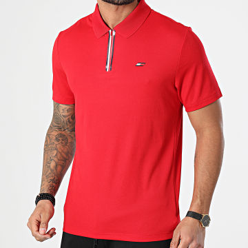 Tommy Sport - Polo Manches Courtes Stripe Training 7270 Rouge