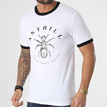 Anthill - Tee Shirt Ringer Logo Blanc