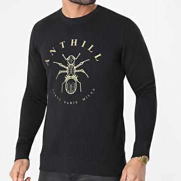 Anthill - Sweat Crewneck Logo Noir Doré