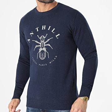 Anthill - Sweat Crewneck Logo Bleu Marine