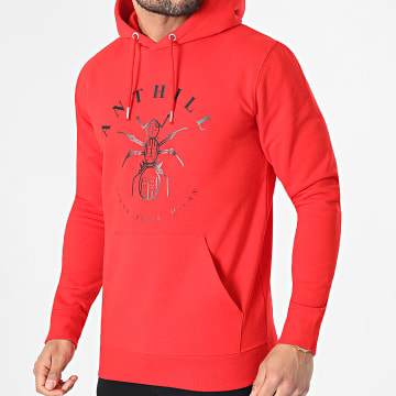Anthill - Sweat Capuche Logo Rouge