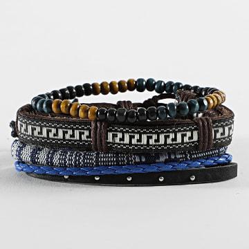 Deeluxe - Bracelet Multi-rangs Apache Noir Bleu