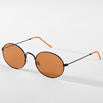 Jack And Jones - Lunettes De Soleil Mark Noir Orange