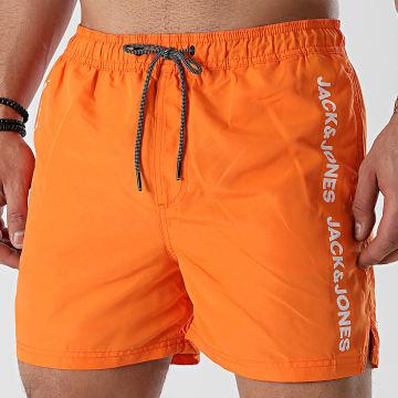 Jack And Jones - Short De Bain A Bandes Bali Orange