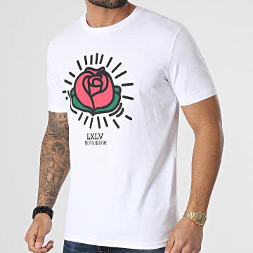 Luxury Lovers - Tee Shirt Keith Roses Blanc