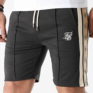 SikSilk - Short Jogging A Bandes Premium Tape Pleated 17847 Gris Anthracite