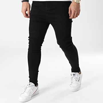 SikSilk - Jean Skinny Drop Crotch Denim 19356 Noir