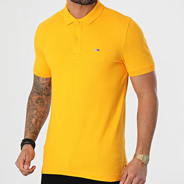 Tommy Jeans - Polo Manches Courtes Classics Solid Stretch 9439 Jaune
