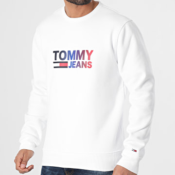 Tommy Jeans - Sweat Crewneck Ombre Corp Logo 0202 Blanc