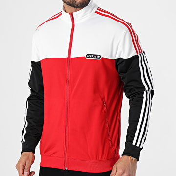 Adidas Originals - Veste De Sport A Bandes Split Firebird GN3852 Rouge Blanc Noir