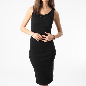 Calvin Klein - Robe Débardeur Femme Micro Branding Strap 6177 Noir
