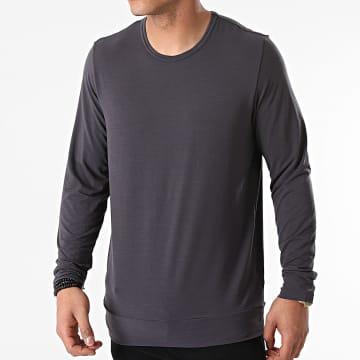 Calvin Klein - Tee Shirt Manches Longues NM1998E Gris Souris