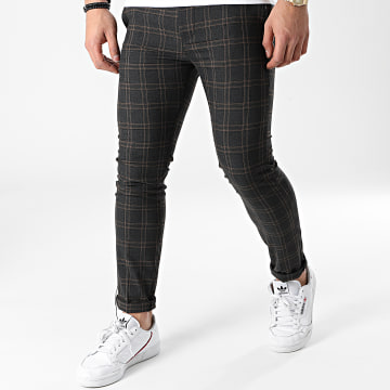 Classic Series - Pantalon A Carreaux M-3321 Gris Anthracite