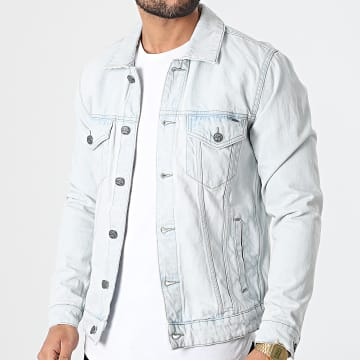 Only And Sons - Veste Jean Coin Bleu Wash