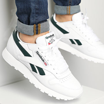 Reebok - Baskets Classic Leather FY9403 White Forest Green Vector Red
