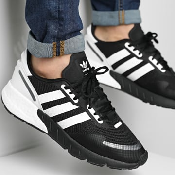 Adidas Originals - Baskets ZX 1K Boost FX6515 Core Black Cloud White Black Silver