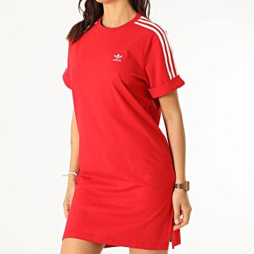 Adidas Originals - Robe Tee Shirt A Bandes Femme GN2778 Rouge