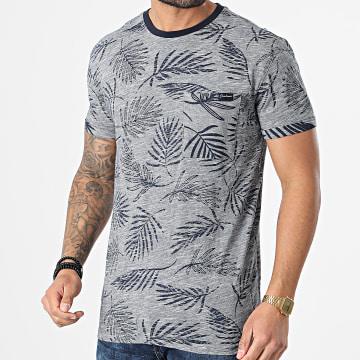 Deeluxe - Tee Shirt Poche Niki Bleu Marine Chiné