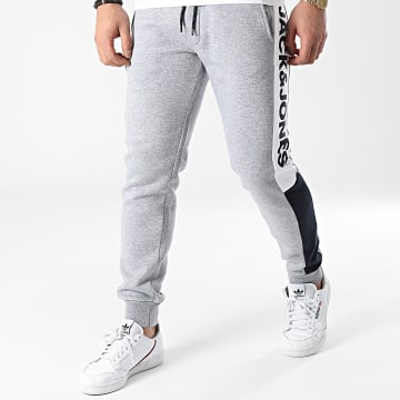 Jack And Jones - Pantalon Jogging A Bandes Will Logo Blocking Gris Chiné